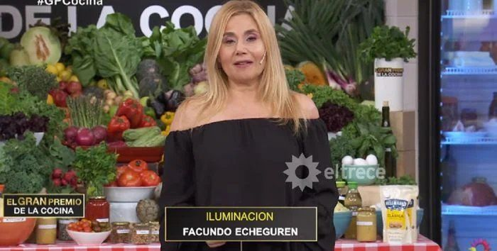 Andrea Politti reemplazó a Carina Zampini en El Gran Premio de la Cocina.
