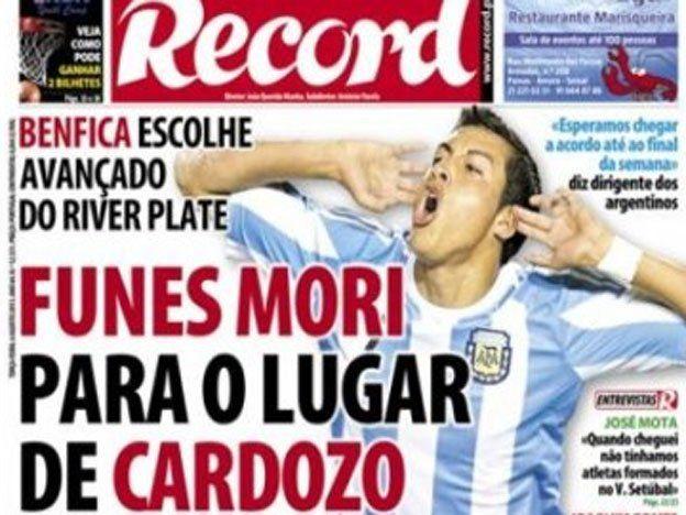 Funes Mori podría terminar con el conflicto y pasar al Benfica de Portugal