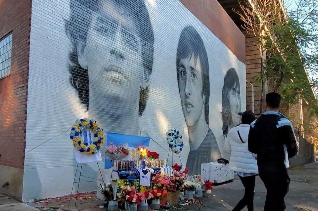 Diego Maradona: la historia detrás de su mural en Nueva York
