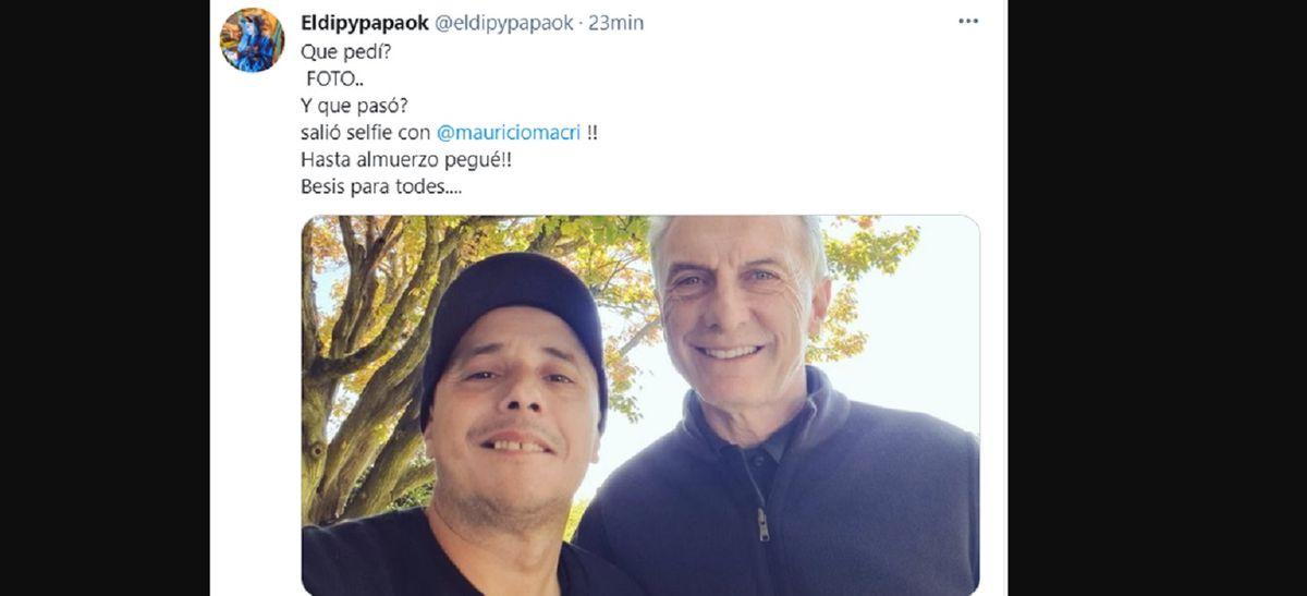 El Dipy almorzó con Mauricio Macri y se sacó la selfie