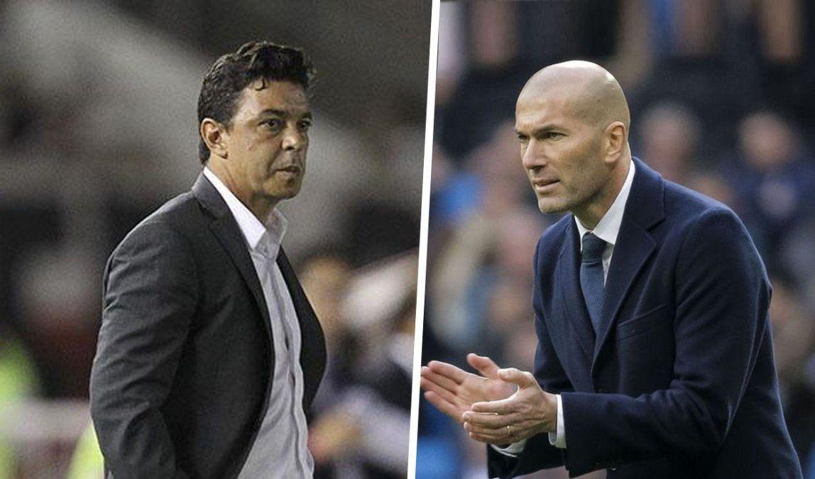 Marcelo Gallardo y Zinedine Zidane.