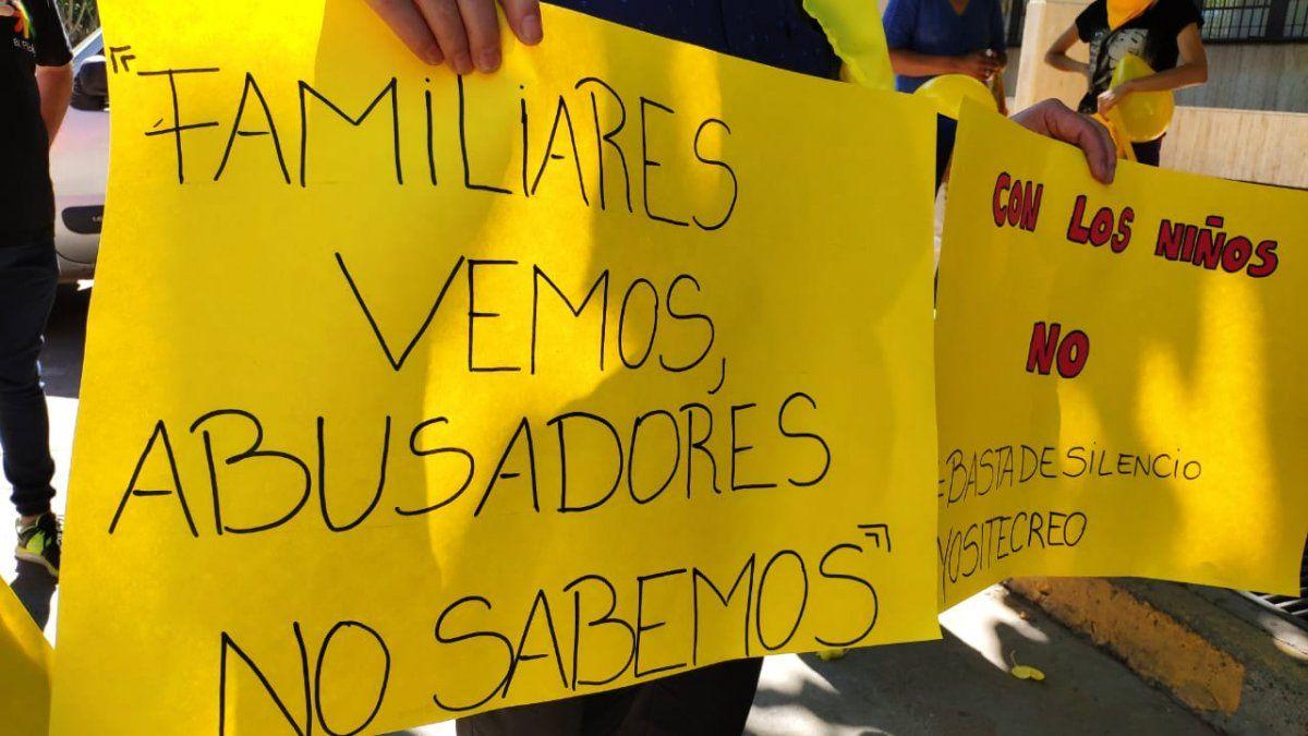 Marcha contra el abuso sexual infantil.
