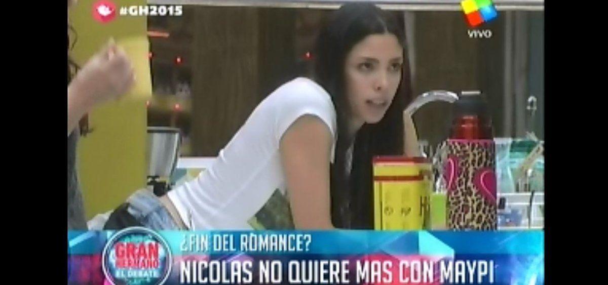 """""""Gran Hermano 2015"""": Nicolás quiere cortar a Maypi porque no le conviene para el juego"""