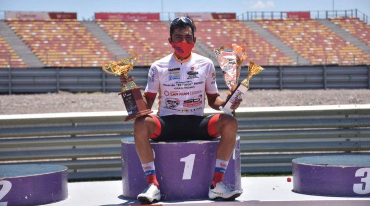 Laureano Rosas se quedó con la Doble Difunta Correa. Foto: ciclismoxxi.