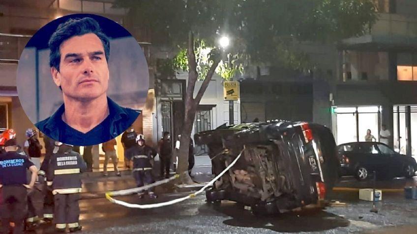 El susto de Hernán Drago: su camioneta volcó