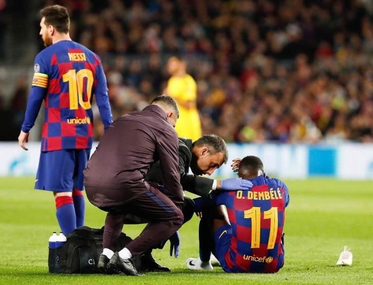 Barsa en problemas: Dembélé sufrió otra grave lesión y se pierde el resto de la temporada