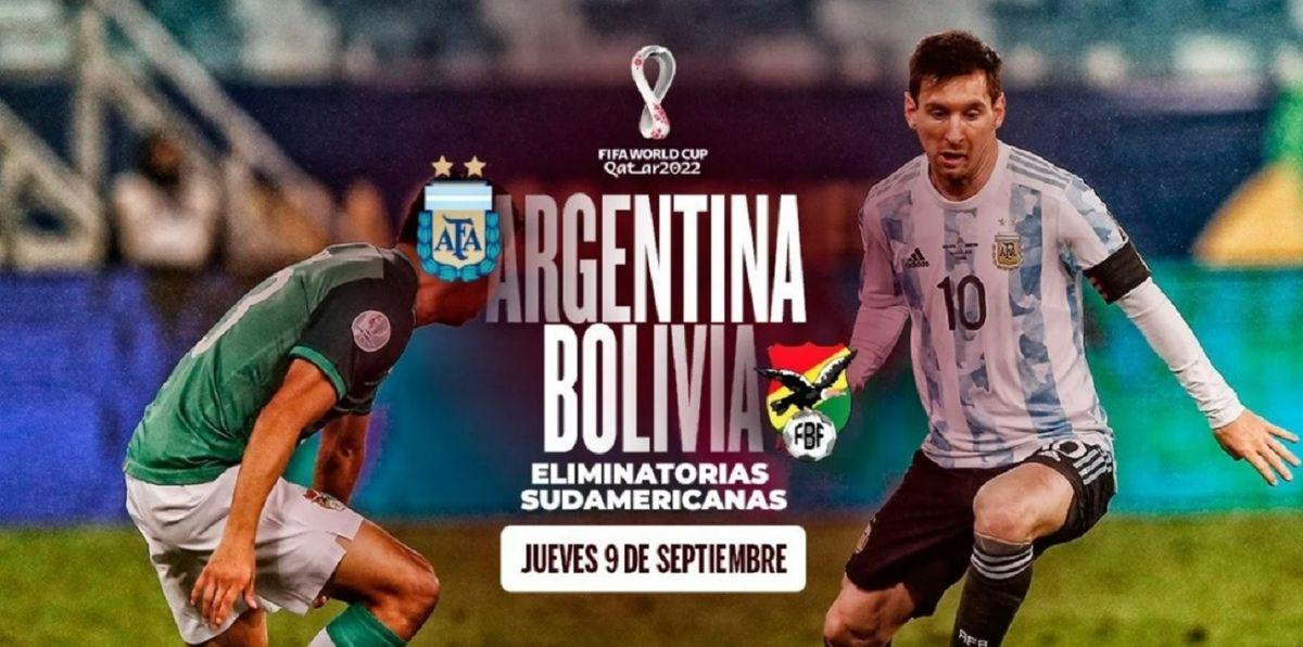 Argentina se mide ante Bolivia por las Eliminatorias Sudamericanas.