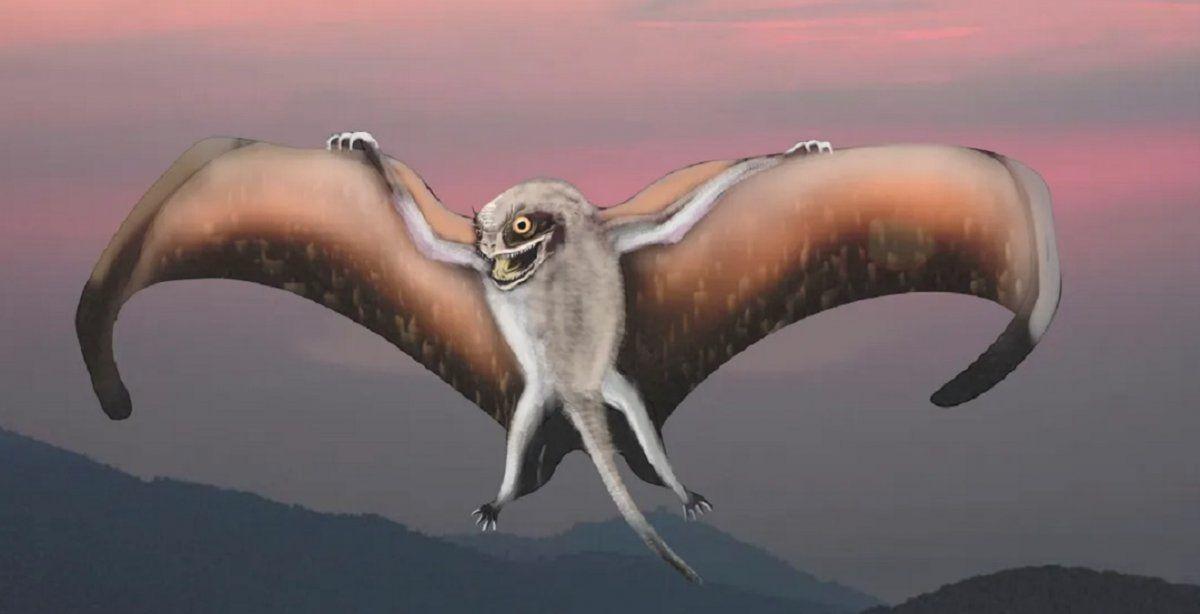 Recreación del dinosaurio volador.