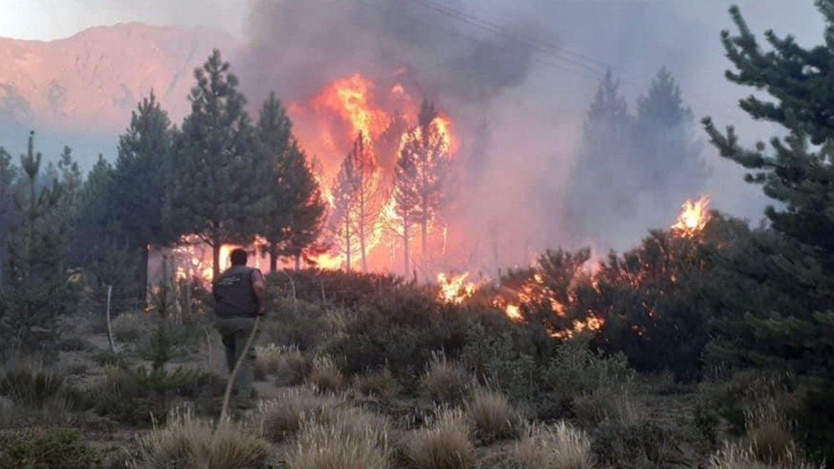 Un incendio arrasó con 8 mil hectáreas en El Bolsón.