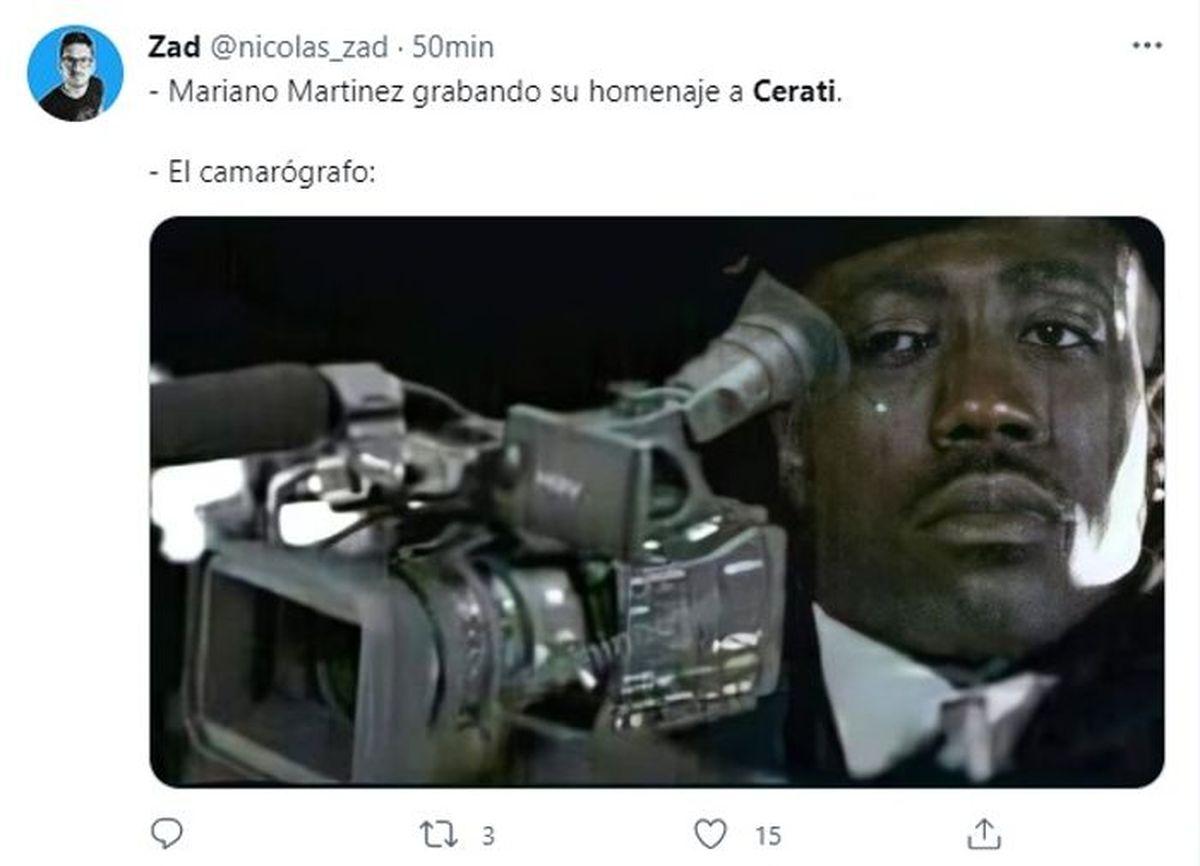 Mariano Martínez interpretó Crimen de Cerati y estallaron los memes