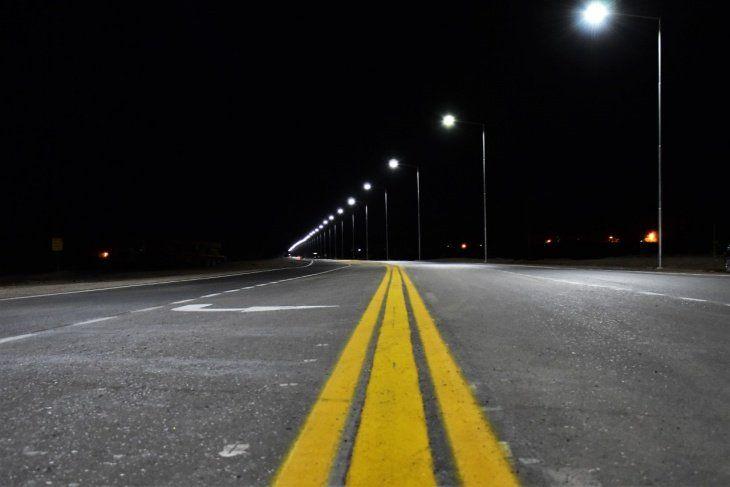 Repavimentación, ciclovía e iluminación led en la Ruta Nacional 150