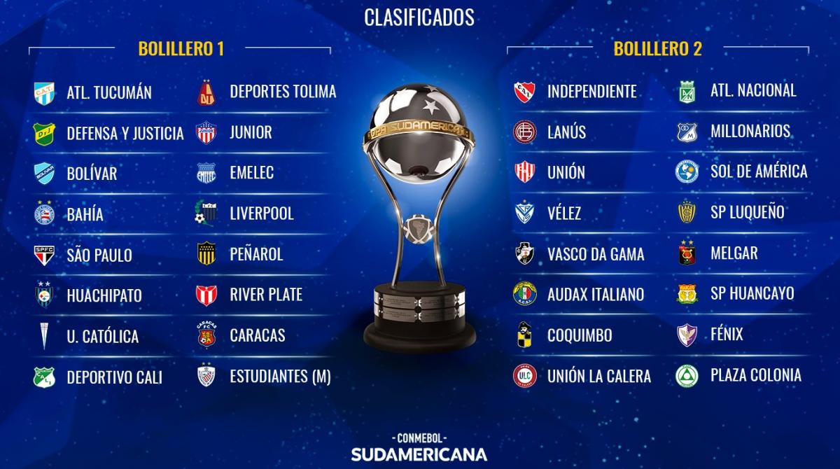 Seis equipos argentinos conocerán su destino en el sorteo de la Copa Sudamericana