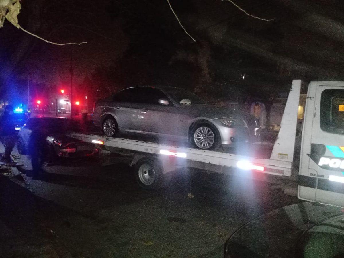 Secuestraron cinco vehículos.