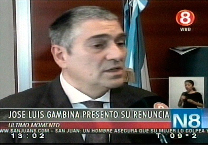 José Luis Gambina renunció al cargo en la dirección de Tránsito y Transporte