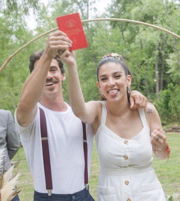 Juana Repetto y Sebastián Graviotto tuvieron un casamiento íntimo.