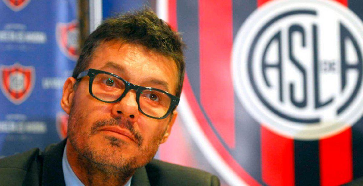 Tinelli se aleja de San Lorenzo para dedicarse a Showmatch
