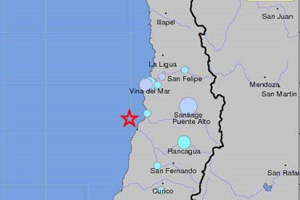 Dos sismos de mediana magnitud se registraron en Valparaíso