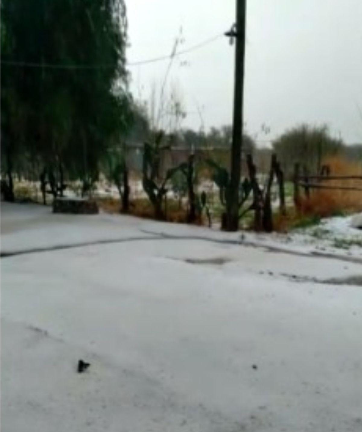 Video: fuerte lluvia y granizo en el sur de San Juan