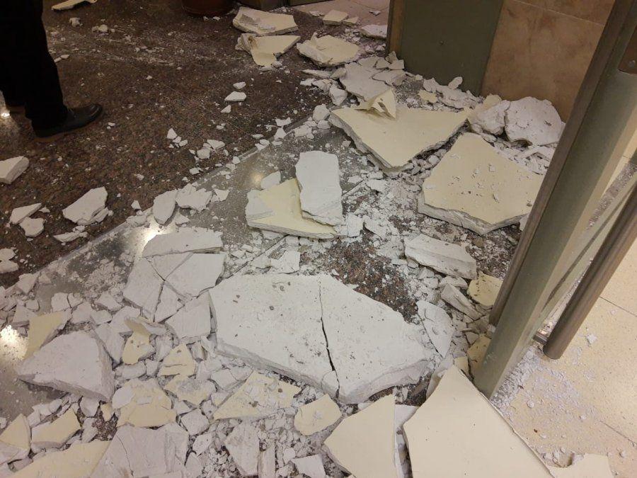 Caos en el quinto piso del Cívico: paredes rotas y armarios caídos