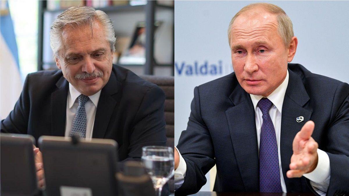 Putin llamó a Alberto Fernández para conocer su estado de salud