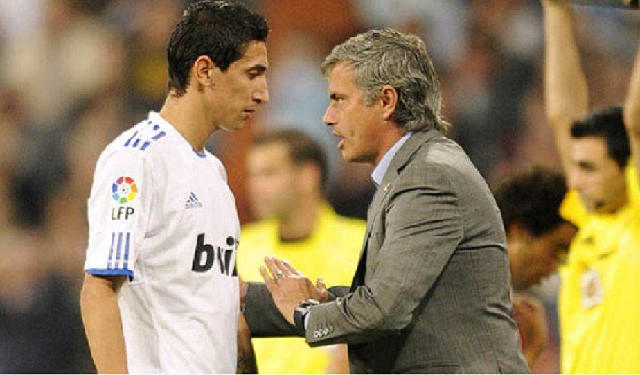 Di María y Mourinho en su paso por Real Madrid.