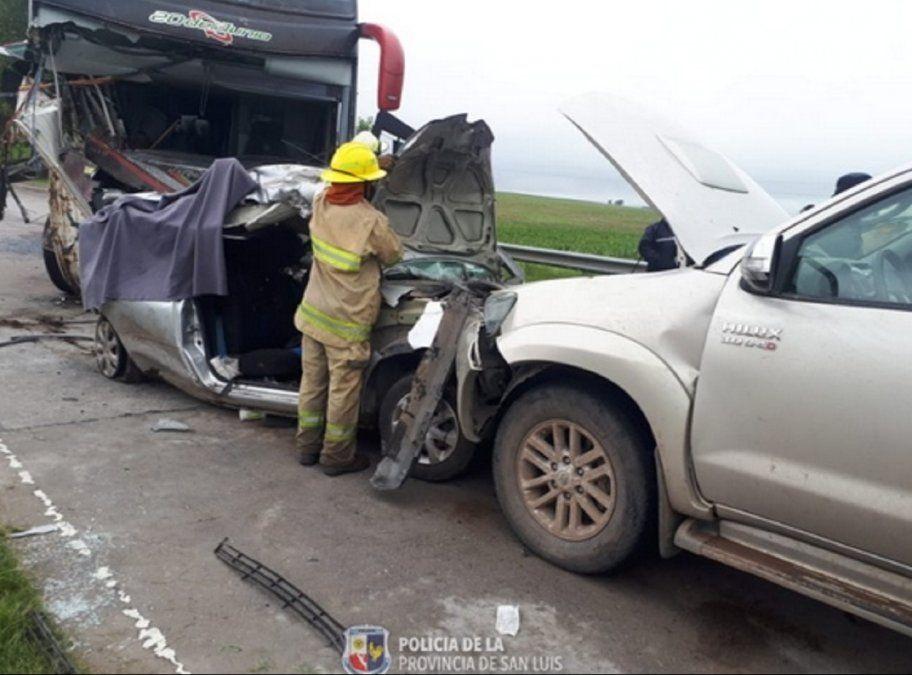 Accidente de colectivo sanjuanino: identificaron a las tres víctimas