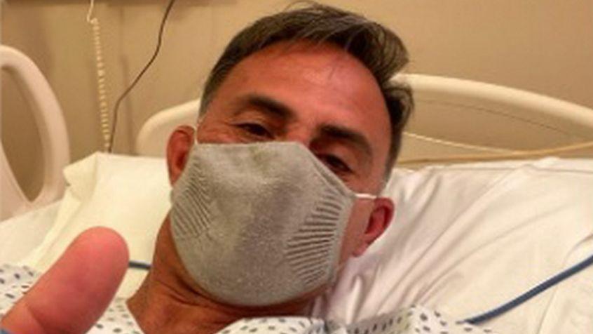 Diego Latorre fue internado por neumonía y fiebre  tras su positivo de coronavirus