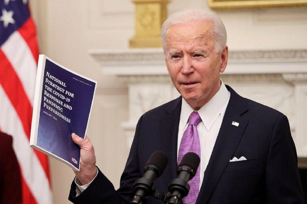 Joe Biden en la presentación de la estrategia contra el COVID-19.