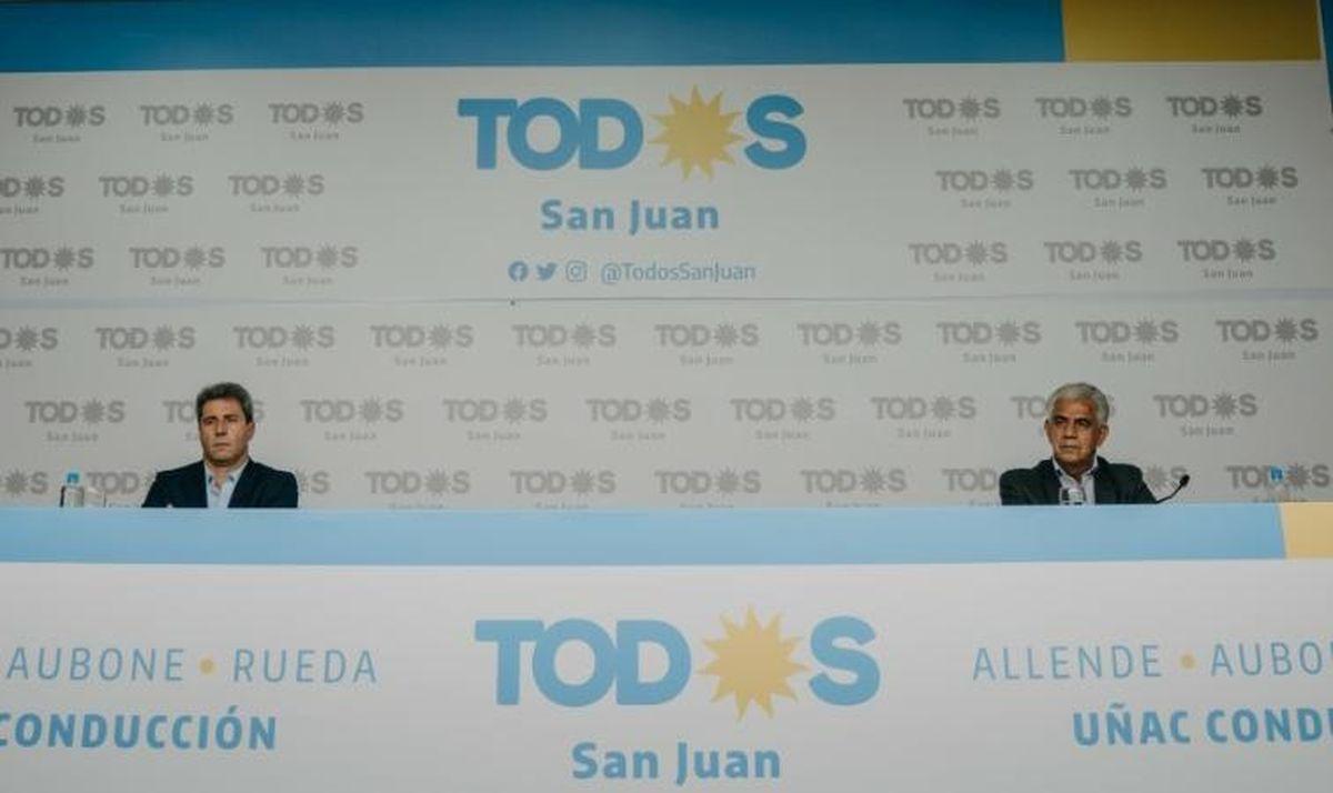 El gobernador Sergio Uñac junto a Walberto Allende.