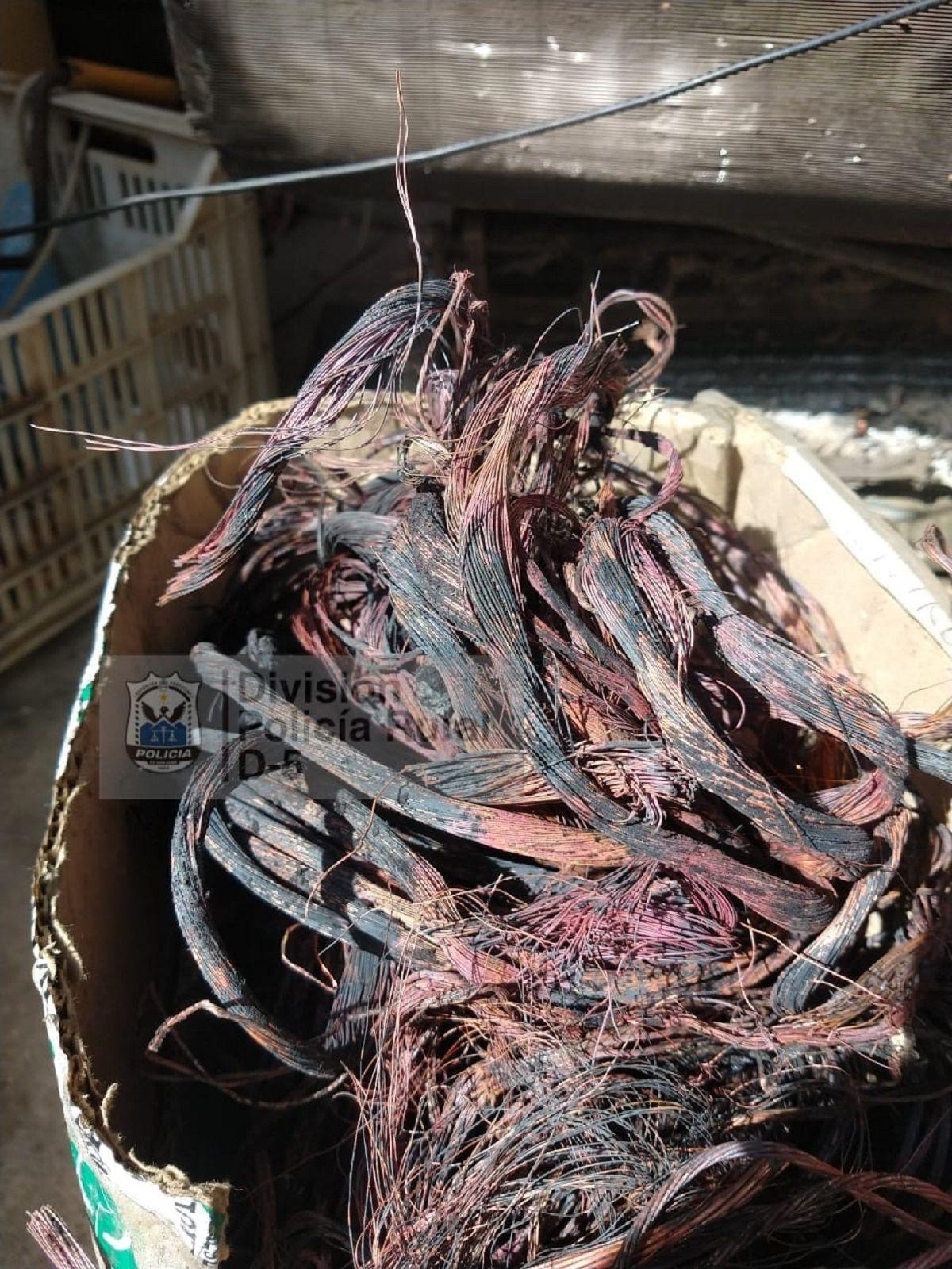 Un allanamiento en Capital obtuvo como resultado el secuestro de 40 kilos de cobre.