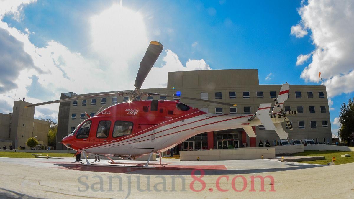En un vuelo sanitario, trasladaron desde Jáchal a un joven tras un grave accidente
