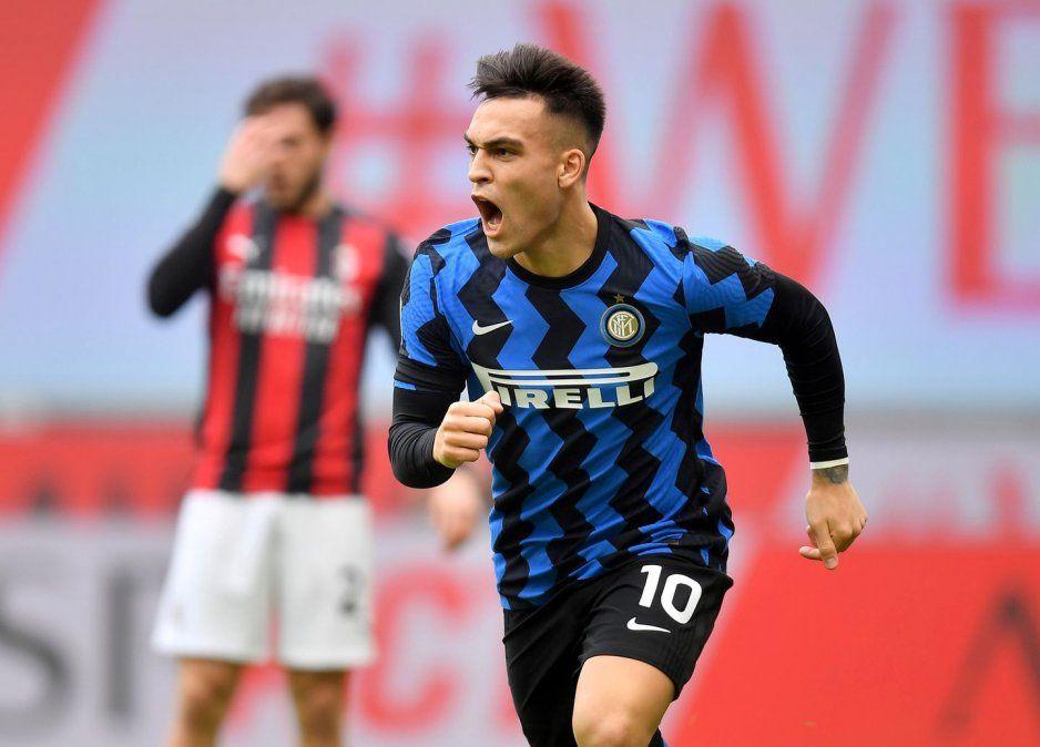 Lautaro Martínez fue decisivo en el clásico entre Inter y Milan