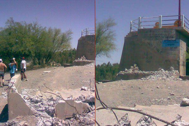 Deportistas sanjuaninos se quejaron por la destrucción de una escalera