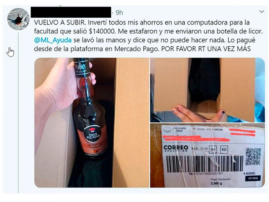 Estafa por Internet: pidió una laptop Mac de $140 mil y le llegó una botella de licor