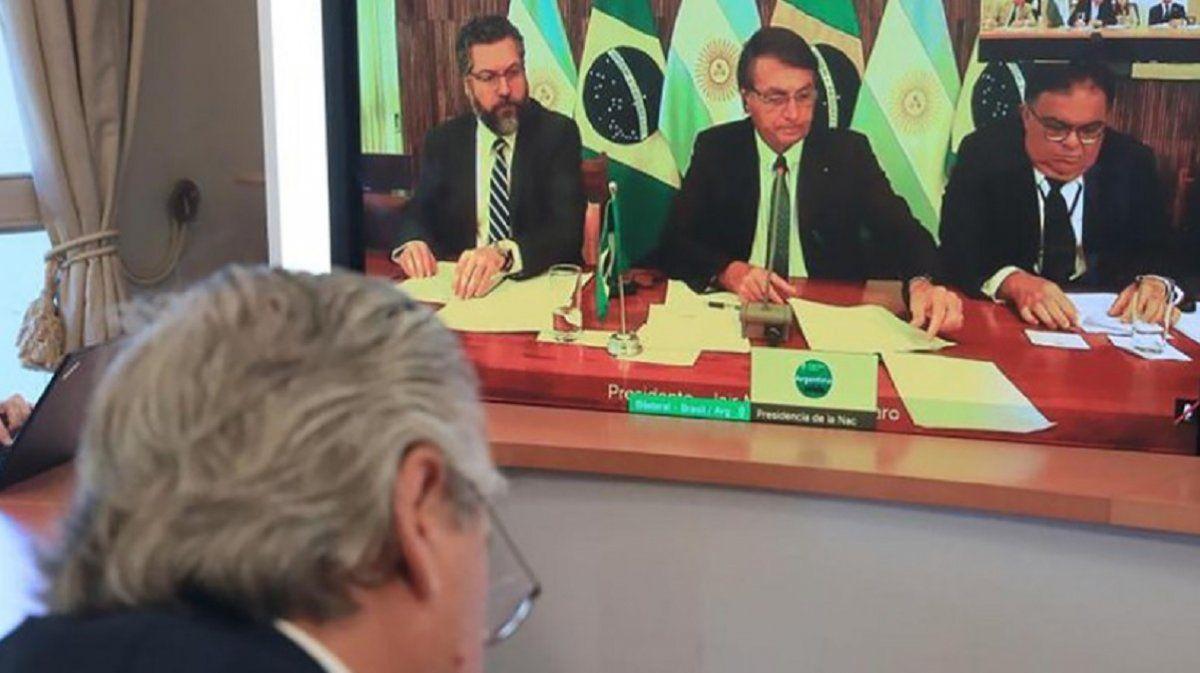 Fernández y Bolsonaro se reunieron y buscan una agenda común