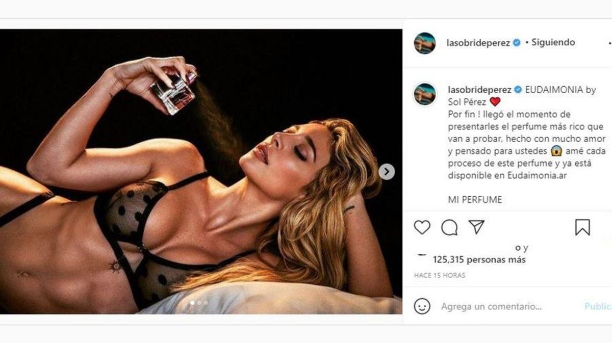 Sol Pérez mostró su nuevo emprendimiento con un foto explosiva