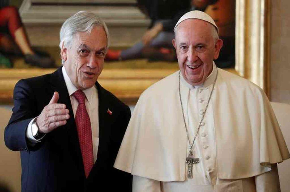 Francisco recibió al presidente Sebastián Piñera en el Vaticano