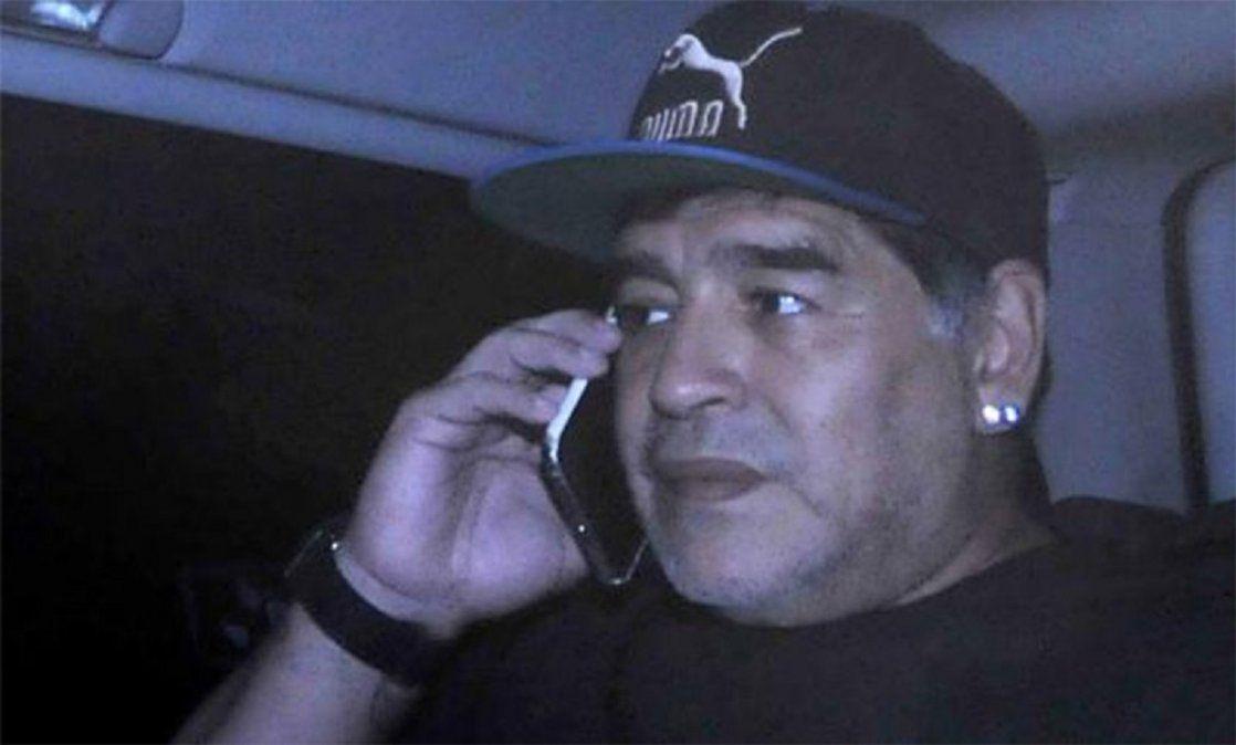 Extrajeron información de los teléfonos de Maradona.