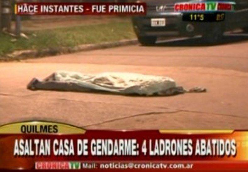 En una entradera, un gendarme mató a cuatro delincuentes