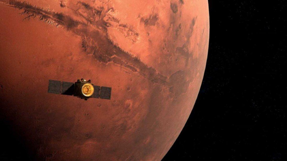 La sonda Esperanza envió su primera imagen de Marte