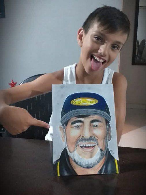 Uno de los dibujos del nene de 11 años.