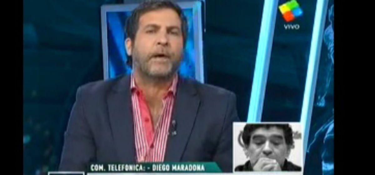 Maradona fue duro con Tinelli y le dejó una advertencia