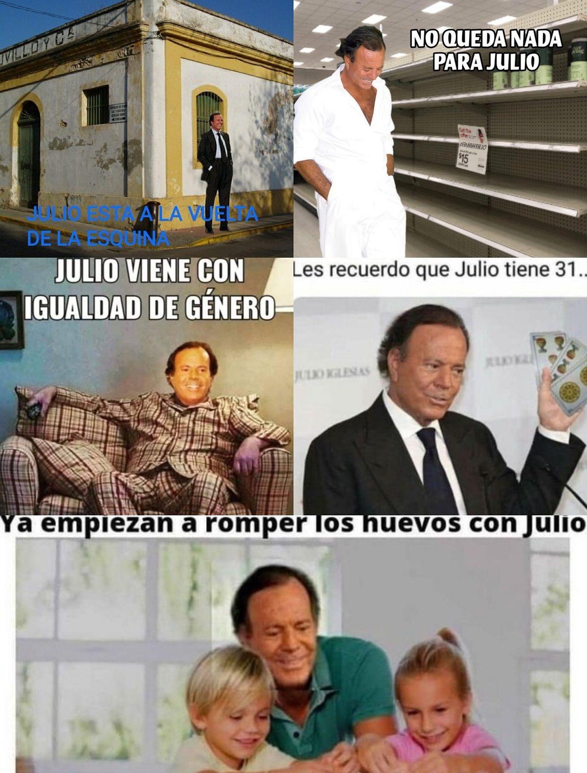 Algunos de los memes de Julio Iglesias que comenzaron a circular por las redes.