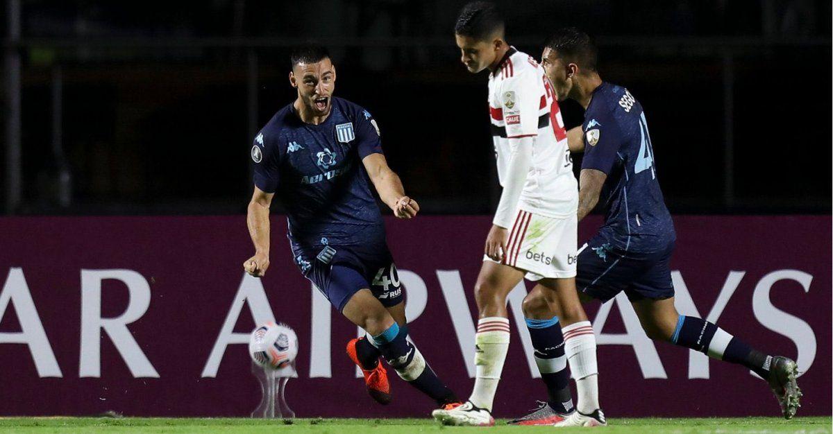 Racing consiguió un triunfo clave en Brasil y está en octavos de final de la Libertadores.