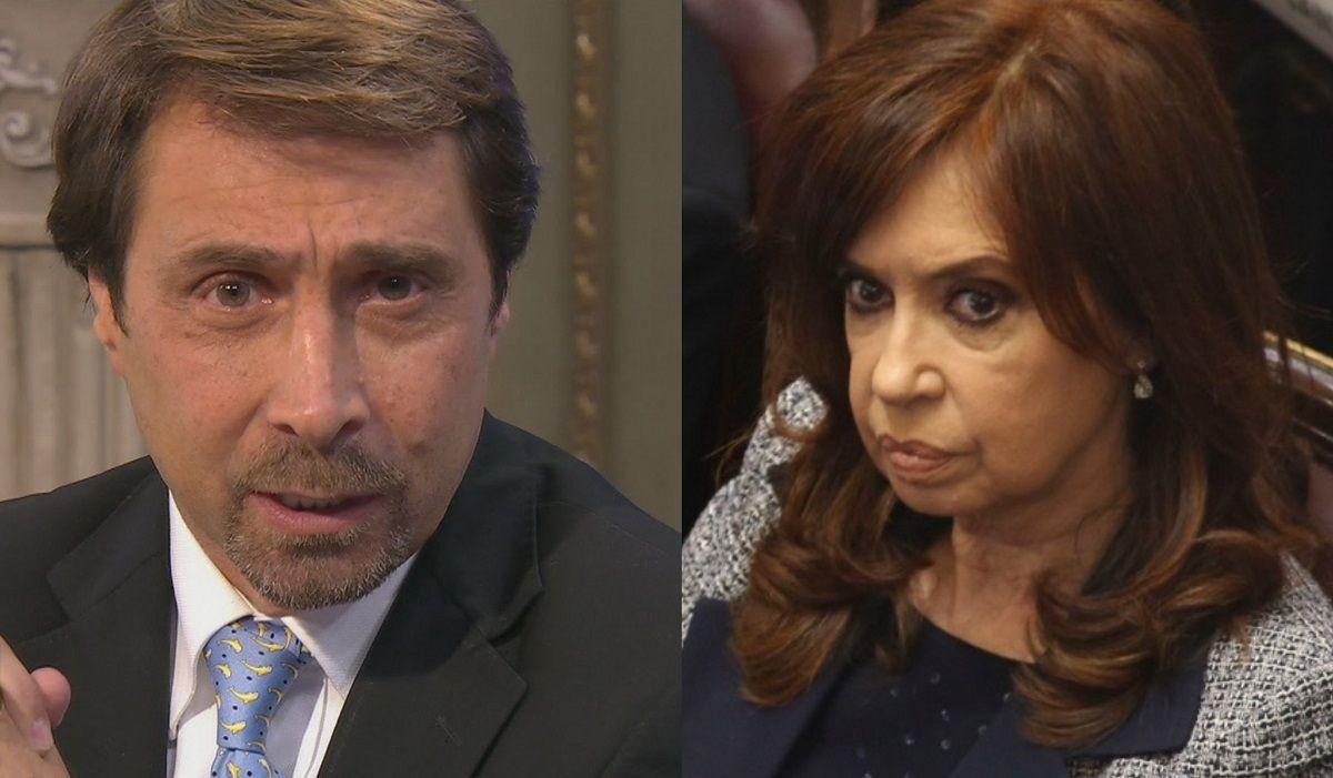 Eduardo Feinmann y Cristina Kirchner.