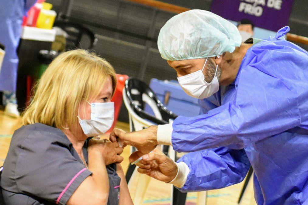 Vacunación en San Juan.
