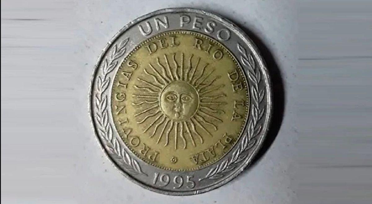 Por un error, hay monedas de 1 peso que se venden hasta $15.000