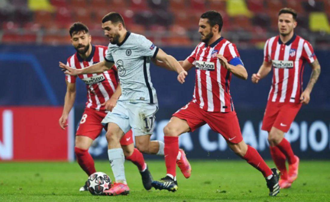 El Atlético perdió en la ida de los octavos de final de la Champions.