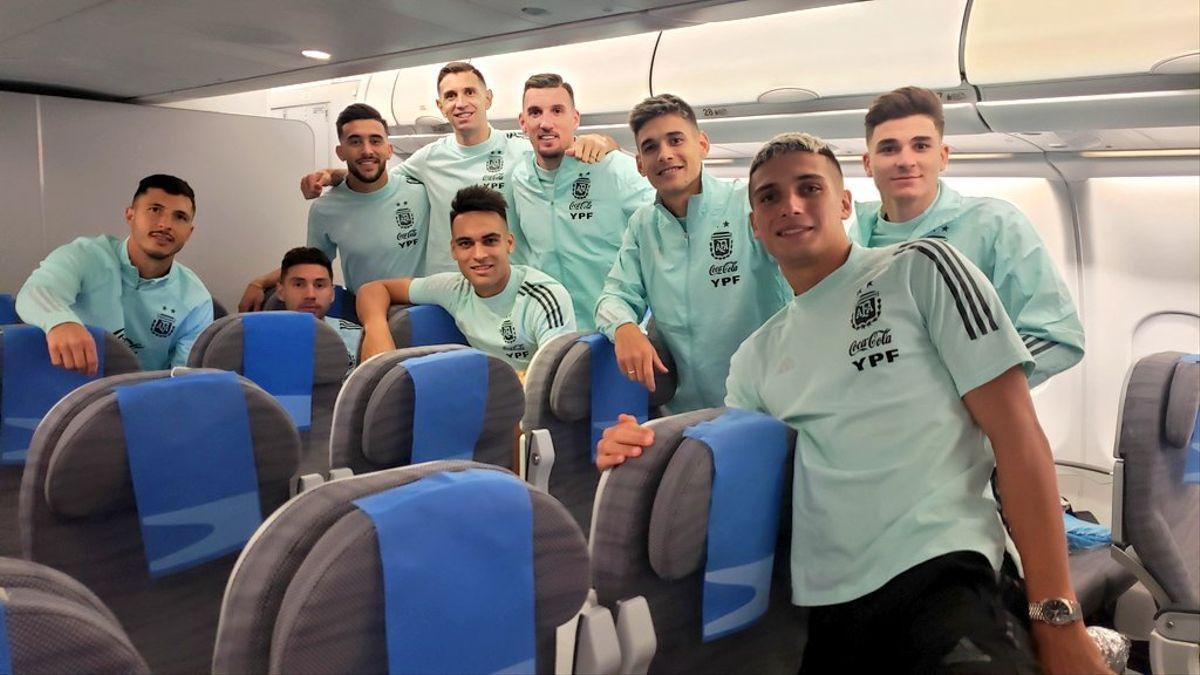 Tras el escándalo en Brasil, el seleccionado argentino llegó a Ezeiza