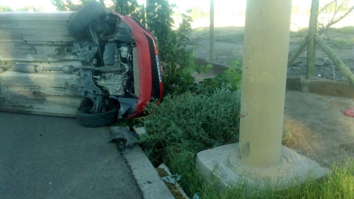 Habló la conductora del auto que volcó en Concepción